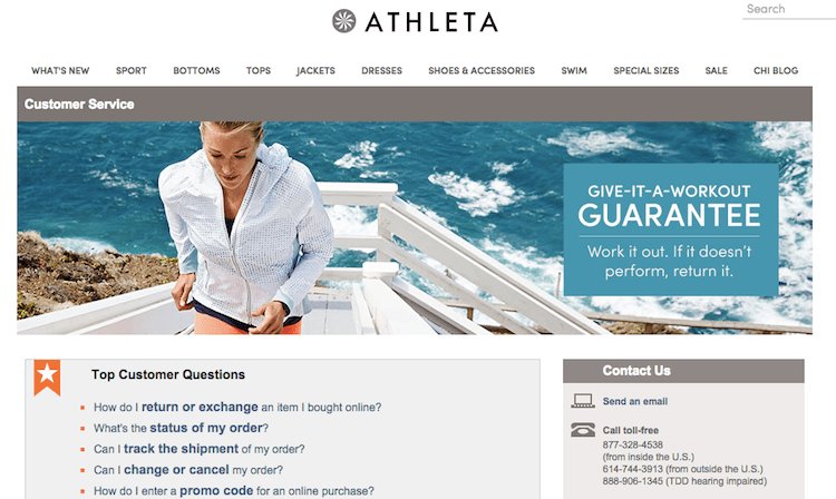 Athleta refund and exchange policy