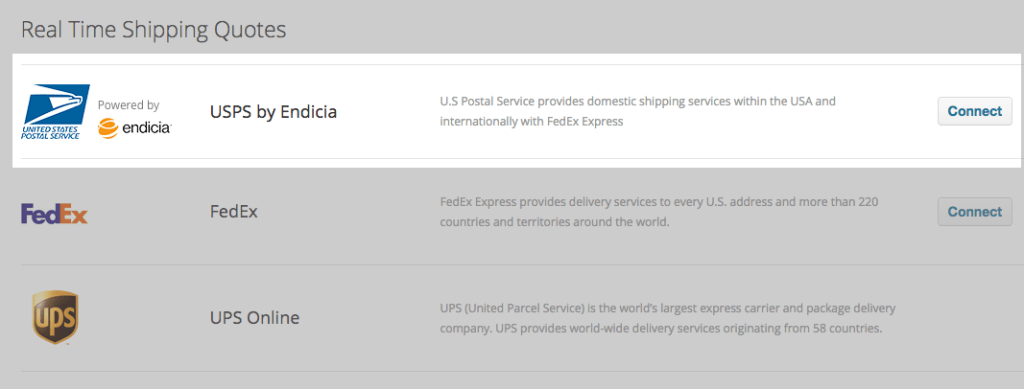 Endicia USPS Shipping Enable