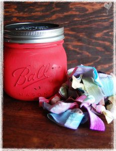 mason jar hair ties