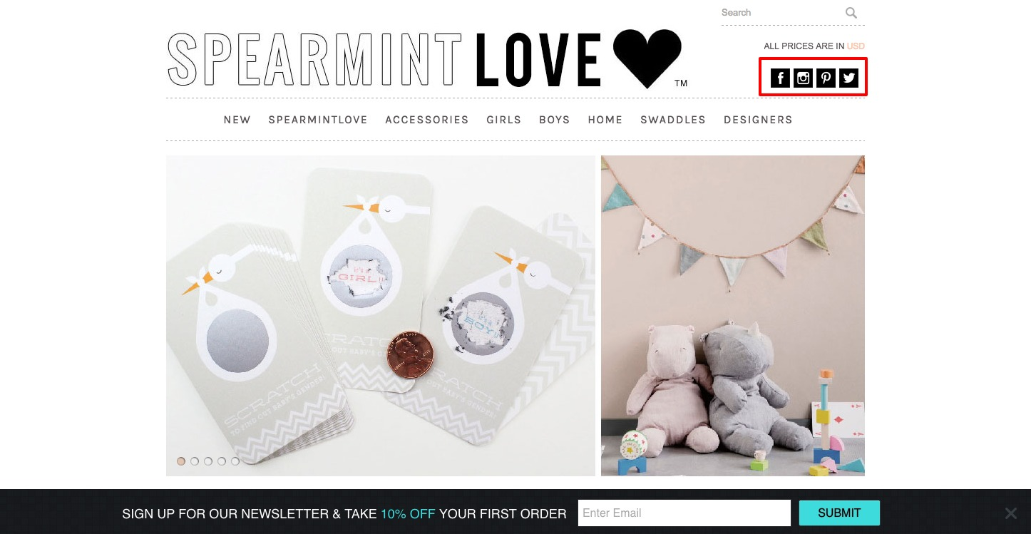 Spearmint LOVE-social-ctas