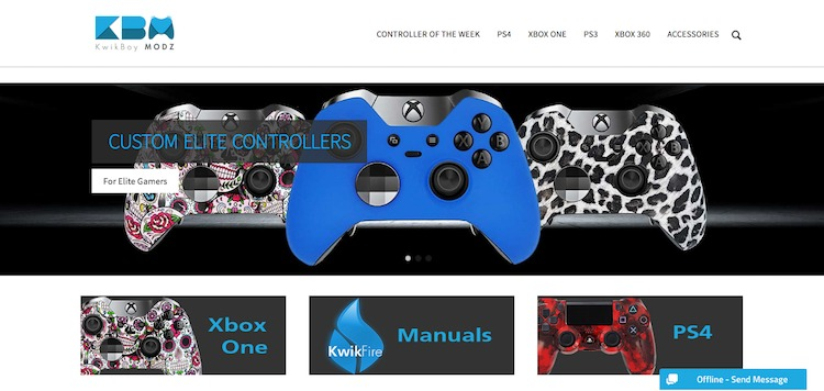 Custom Gaming Controllers and Mods KwikBoy Modz