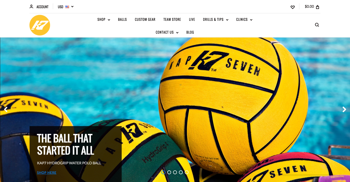 KAP7 International Built by Water Polo Players for Water Polo Players