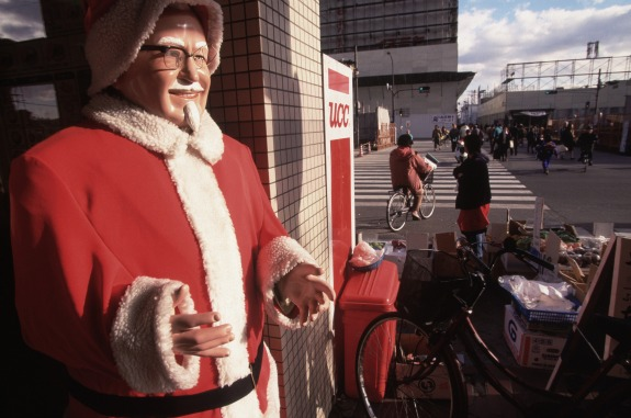 kfc chicken christmas in Japan