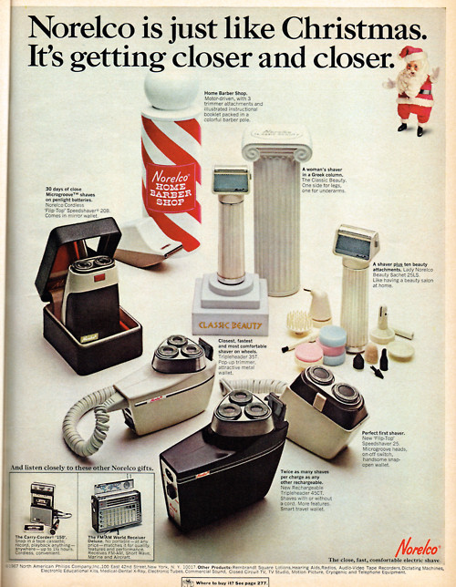 norelco holiday campaign shaving advertisement
