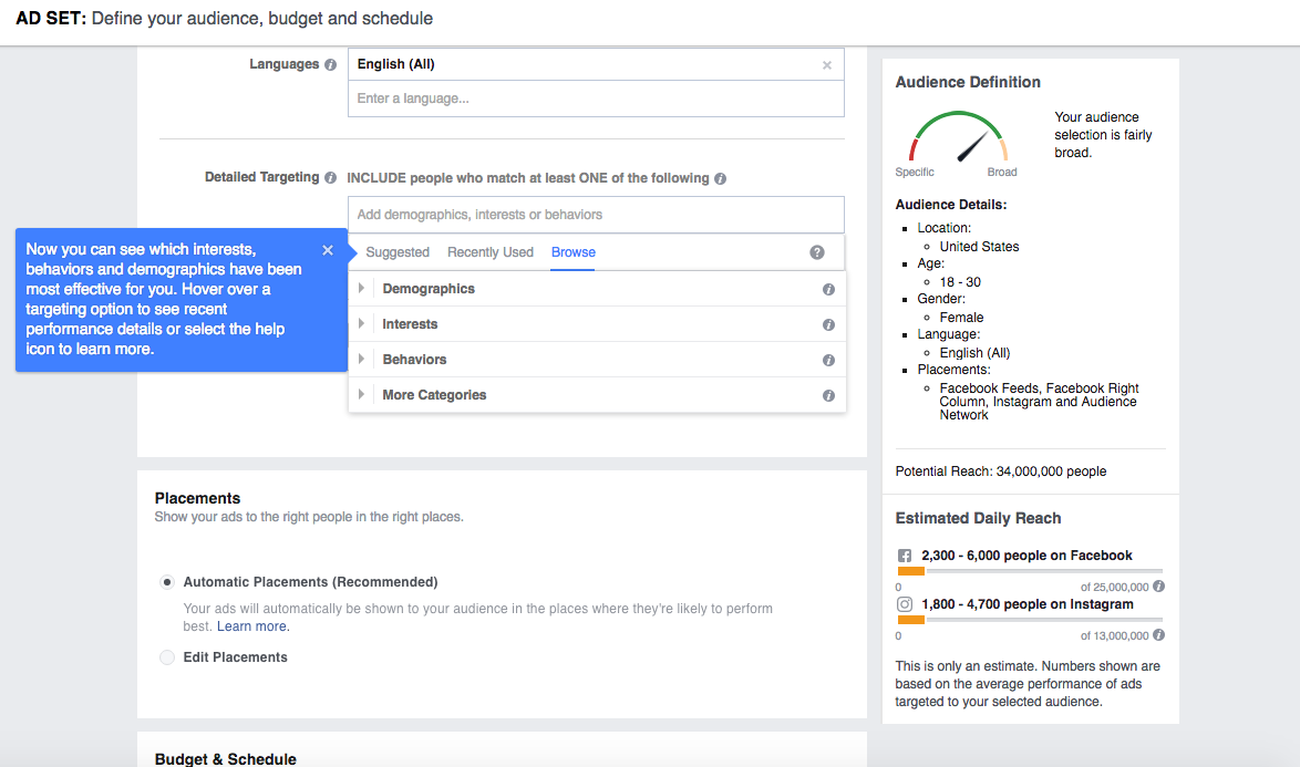 how to target advertisements on facebook