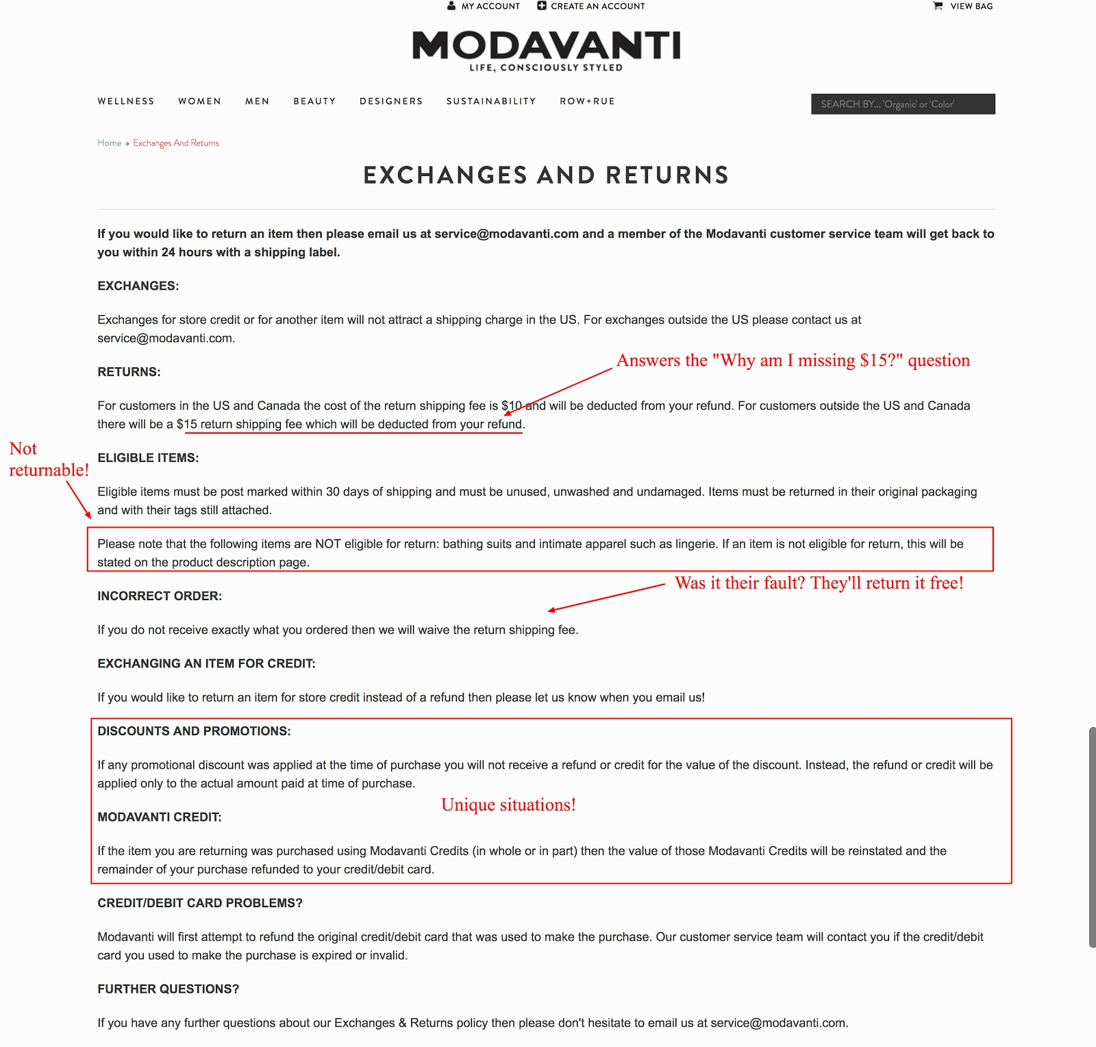 modavanti does a great job fully explaining their return policy including unique situations what is and is not returnable and more check it out
