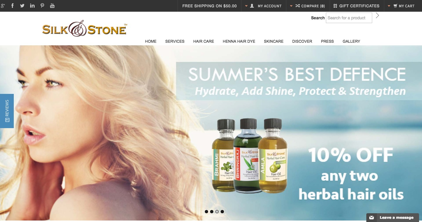 Silk Stone – Providing SPA Services and complete Skin Care Products
