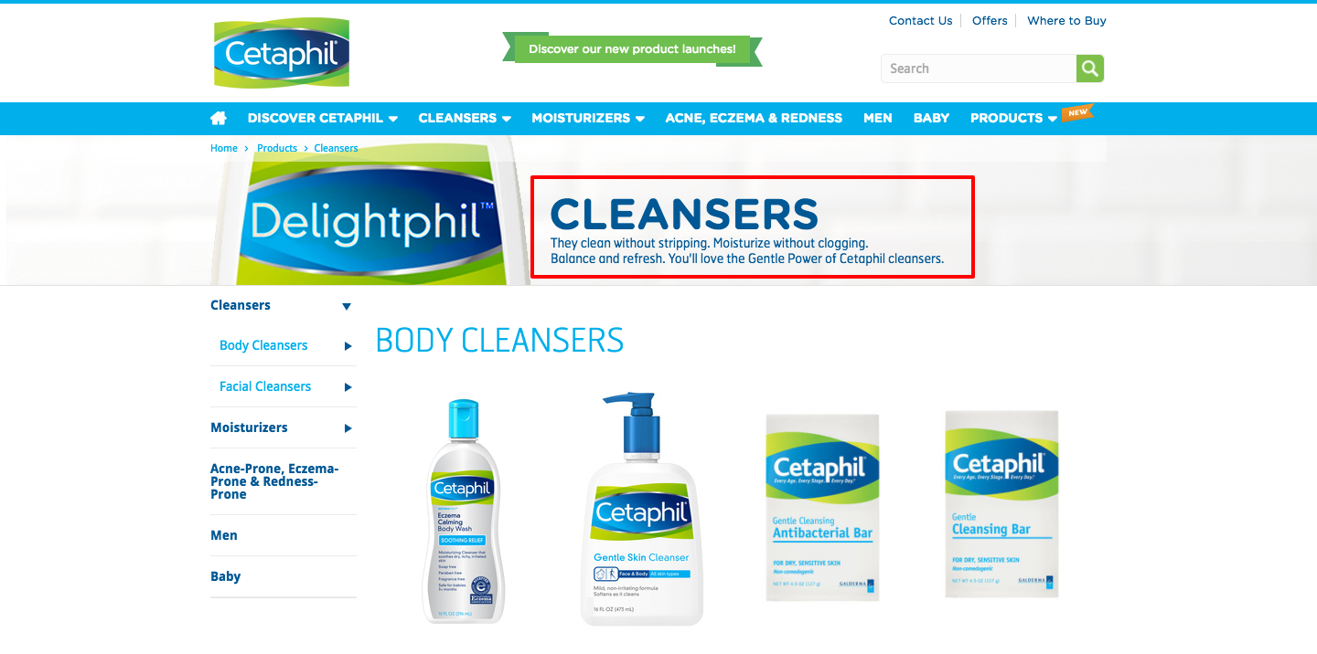 category-page-SEO-examples-cetaphil