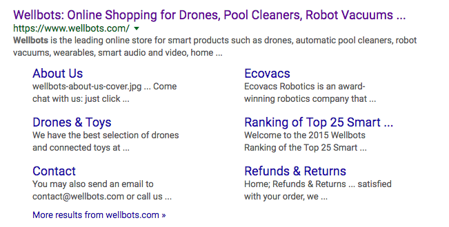 wellbots-sitelinks-SEO