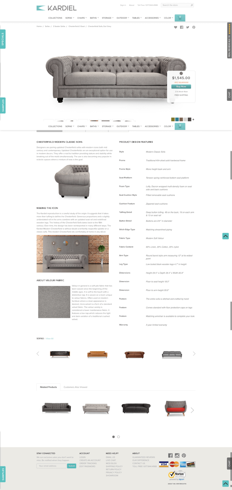 Effective Ecommerce Product Page Examples Best Practices In 2018 360 Degree Diagram Related Keywords Suggestions 7 Kardiel