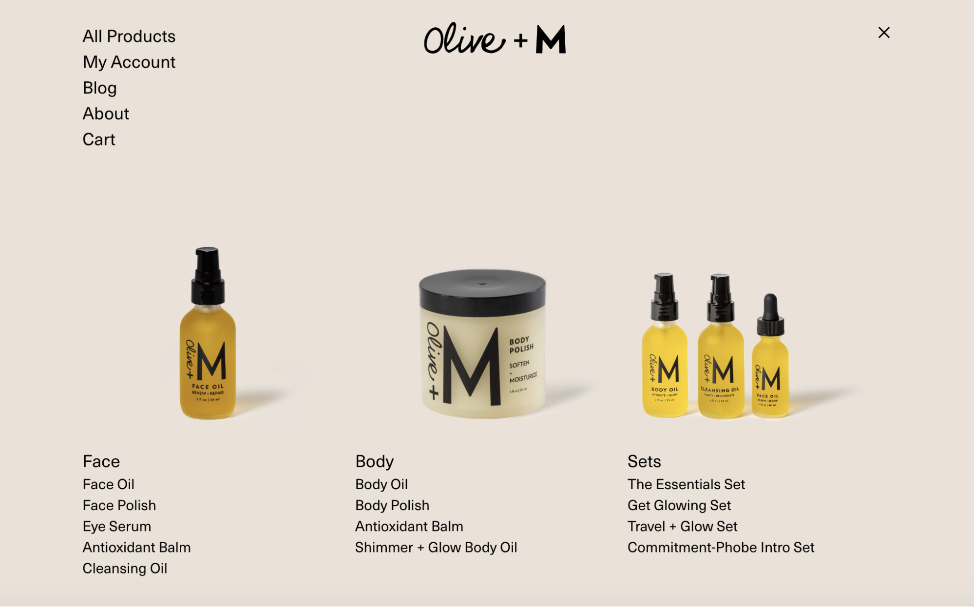 Headless Commerce Example: Olive + M