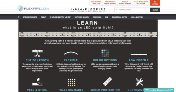 FlexFIre LED Learning Page