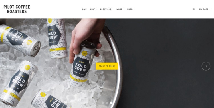 Ecommerce Food and Beverage pilot coffee roasters