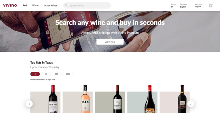 Ecommerce Food and Beverage vivino