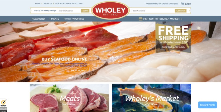 Ecommerce Food and Beverage wholey
