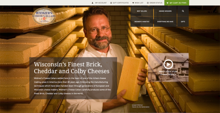 Ecommerce Food and Beverage wildmers cheese cellars