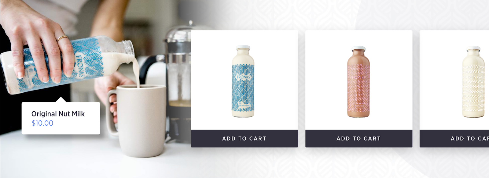 food beverage ecommerce design
