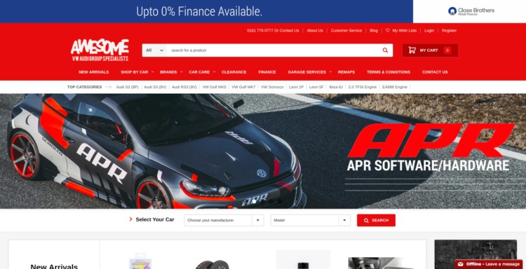 automative ecommerce design awesome gti