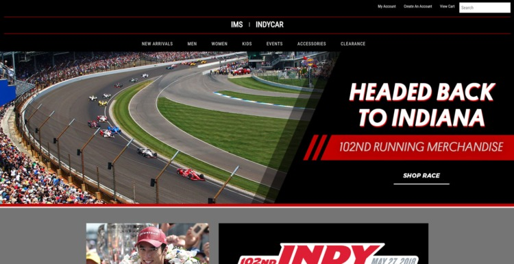 automative ecommerce design indianapolis motor speedway