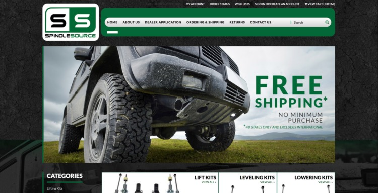 automative ecommerce design spindle source