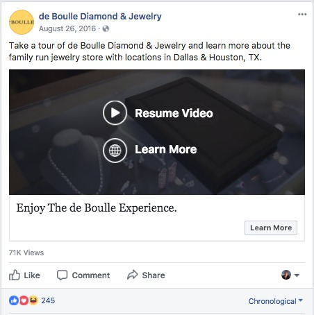de boullle diamond and jewerly single ad video