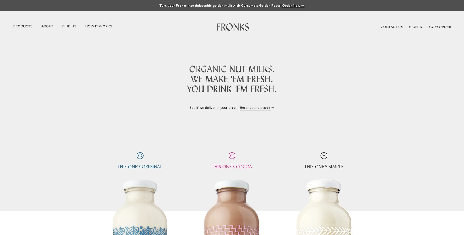 ecommerce design awards FRONKS