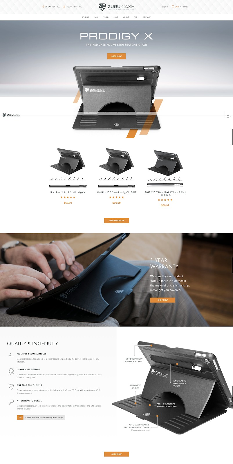 ecommerce design awards ZUGU CASE