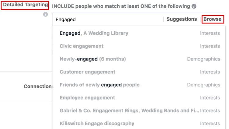 facebook detailed targeting browse