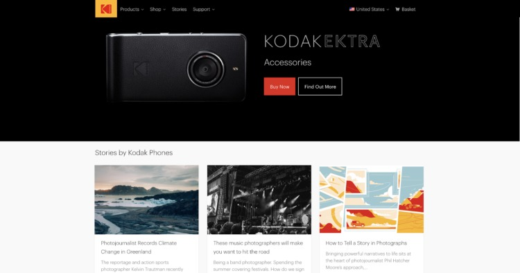 headless commerce kodak front end development