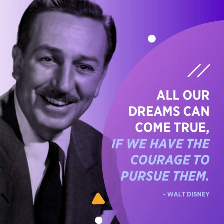 walt disney dreams quote