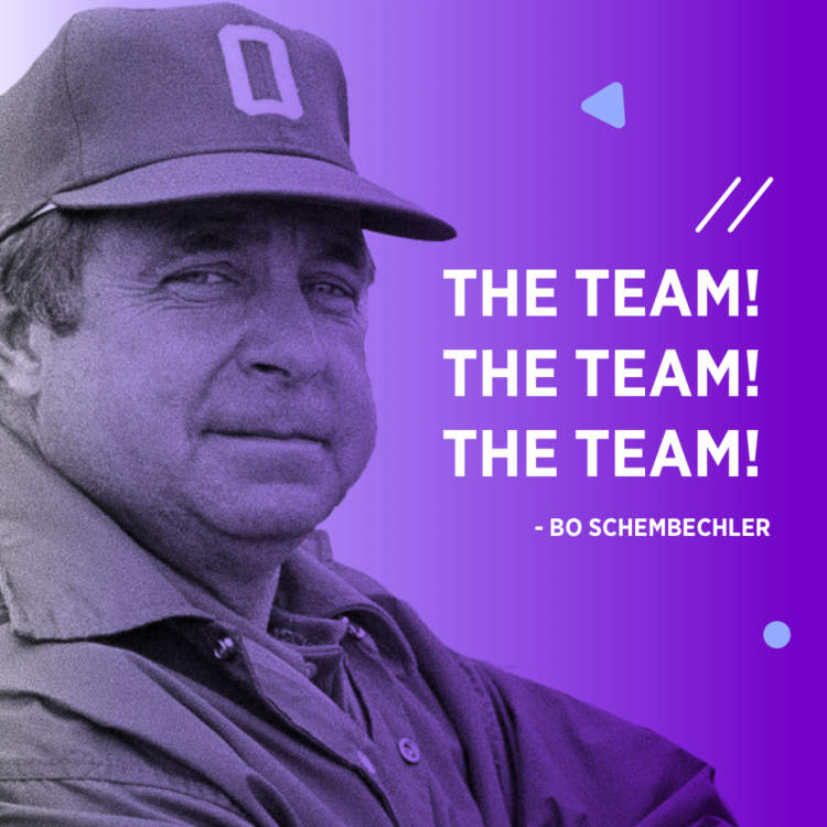 bo schembechler the team quote