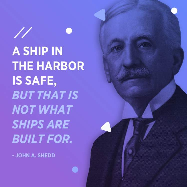 john a shedd what ships are built for