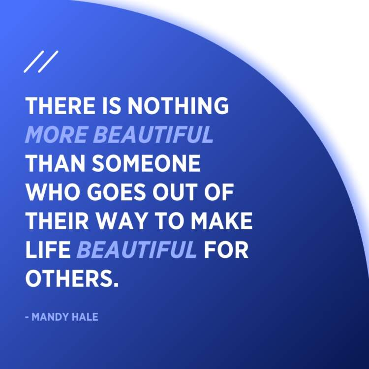 mandy hale beautiful quote