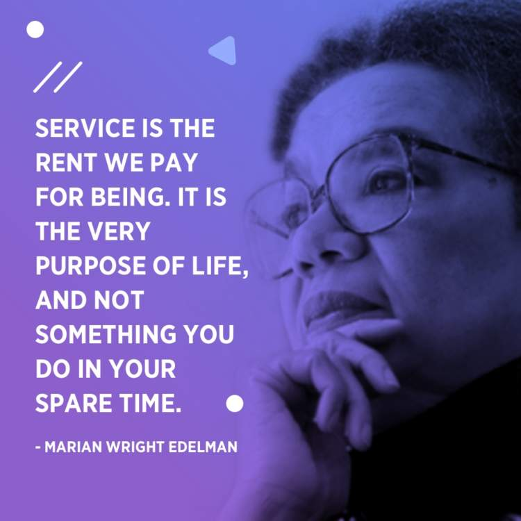 marian wright edelman purpose of life
