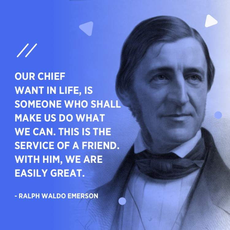ralph waldo emerson service of a friend