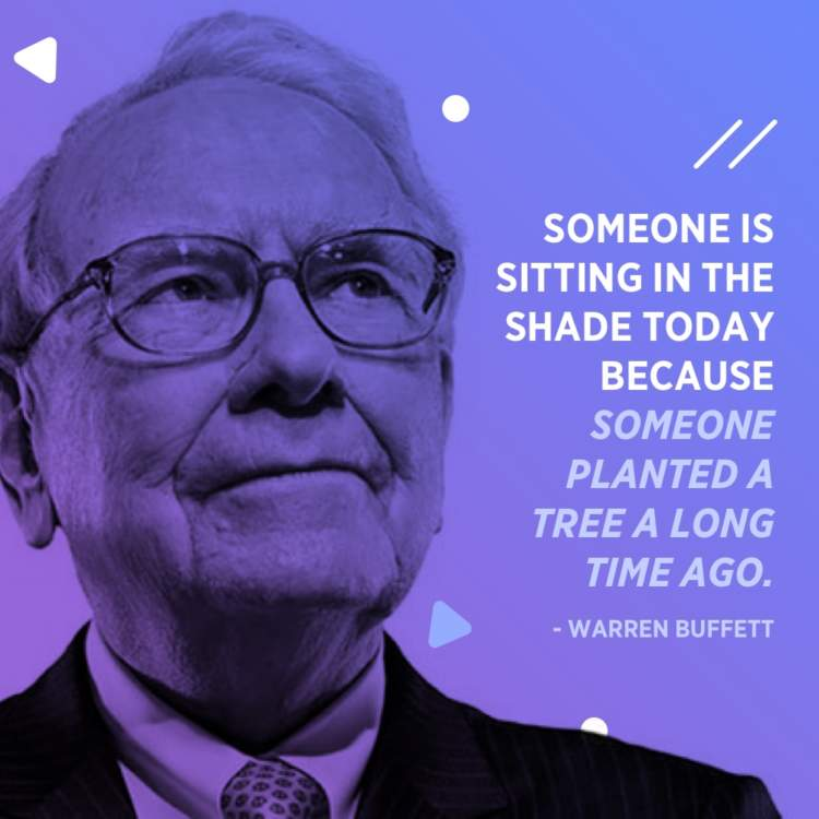 warren buffett tree shade quote