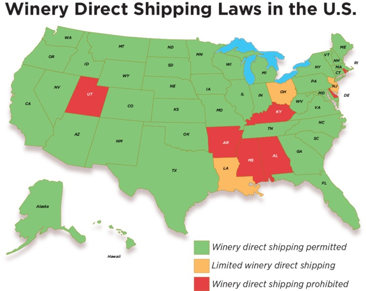 wine ecommerce winery direct shipping laws
