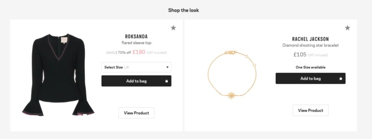 Ecommerce Personalization product pairing