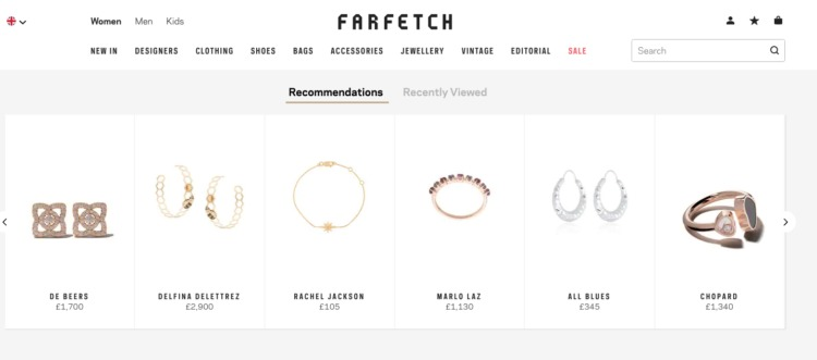 Ecommerce Personalization recommendation