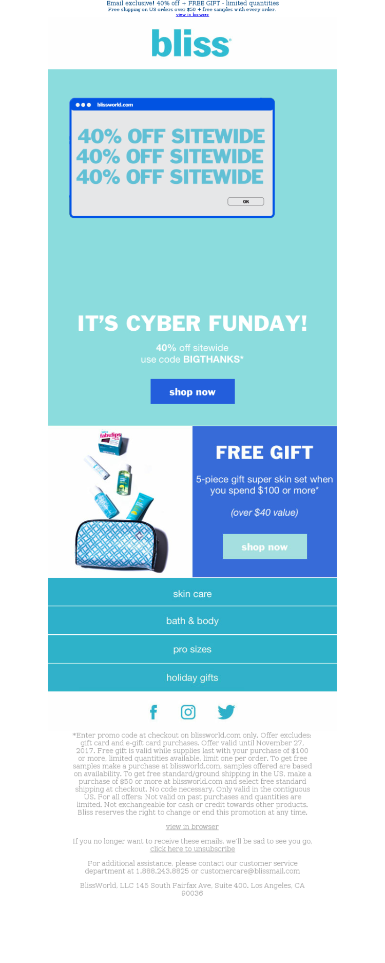 Holiday Email Marketing Bliss Cyber Monday