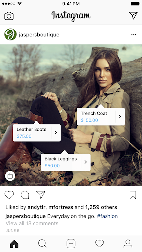 instagram stories shopping post example