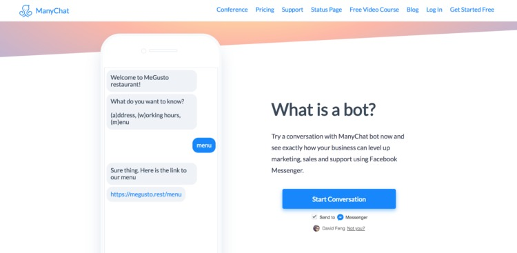 chatbots manychat