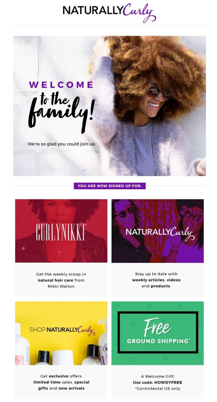 email automation naturally curly