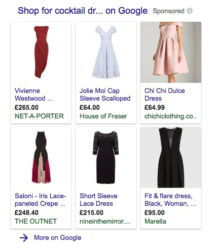 google shopping campaign tips shopping ad example
