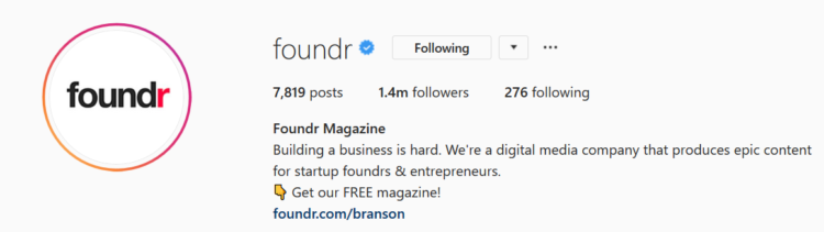 instagram marketing foundr