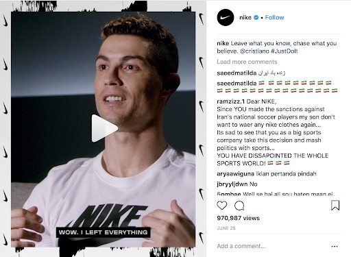 instagram marketing nike video