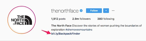 instagram marketing the north face