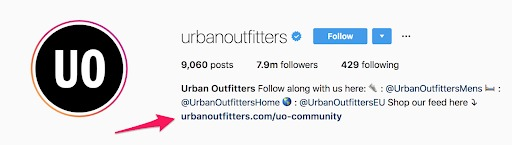 instagram marketing urban outfitters