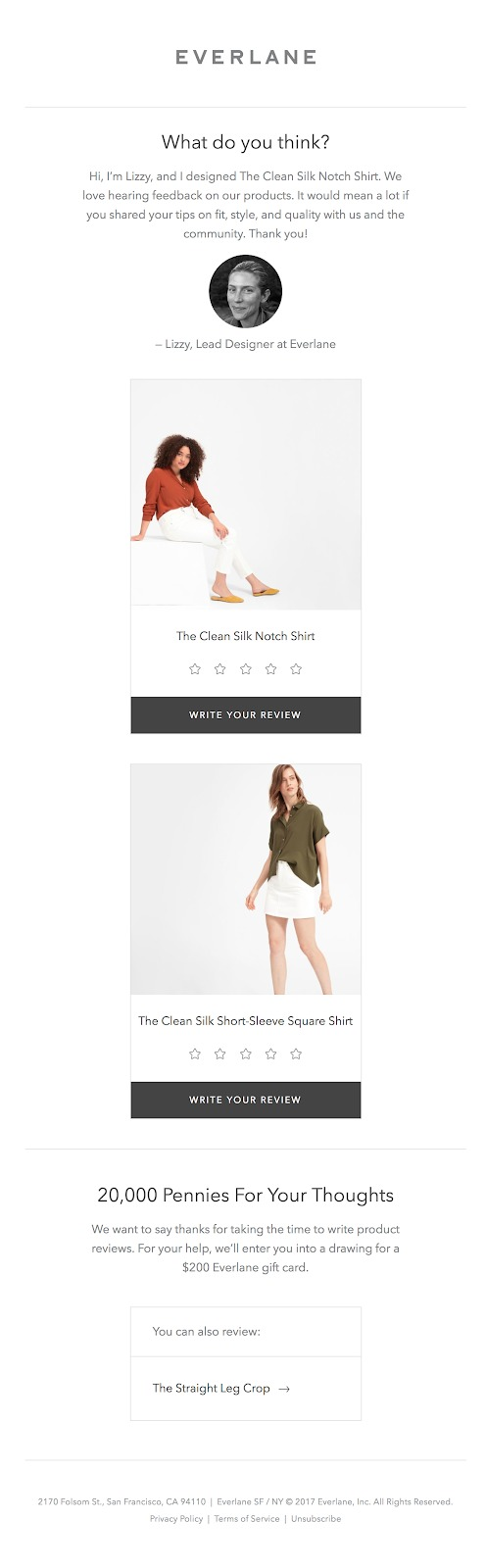 effective email marketing everlane