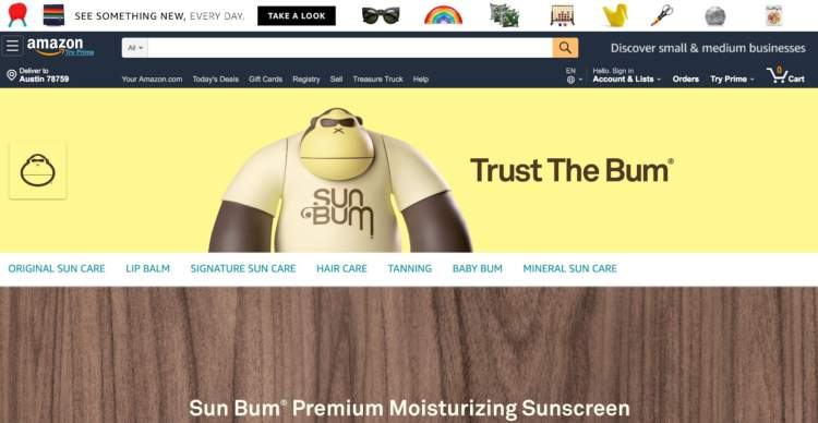 amazon buy box sun bum store page